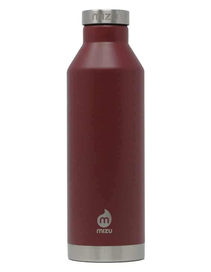 Mizu-V8 rozsdamentes acél termosz burgundi