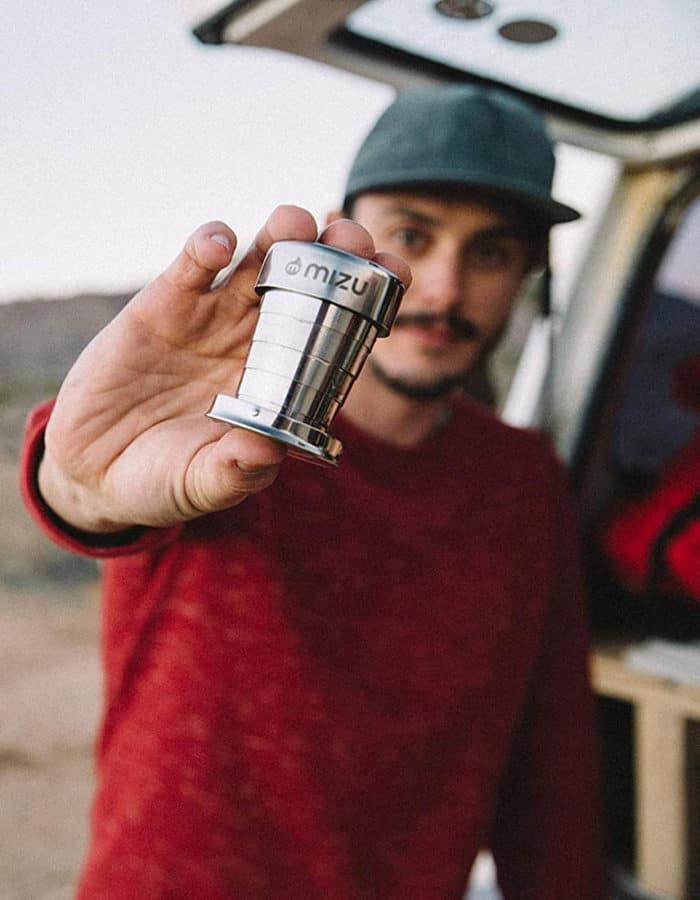 Mizu összecsukható fém feles pohár style 2