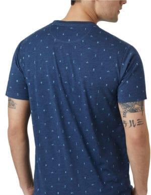 Férfi Tree Print póló hátulról