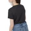 Juniper Classic női póló fekete TenTree modell hátulról