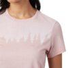 Juniper Classic női póló rózsaszín TenTree modell közeli