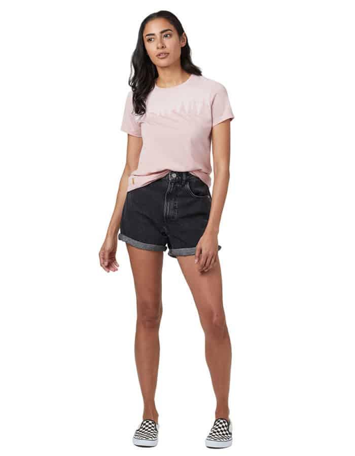 Juniper Classic női póló rózsaszín TenTree modell teljes alak