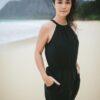 TenTree Cypress fekete női ruha Tencel modell style 2
