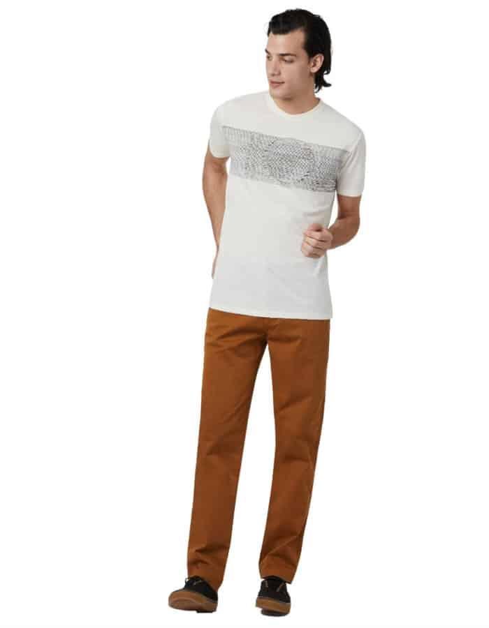 Topographic férfi póló - Tentree- teljes alakos fotó