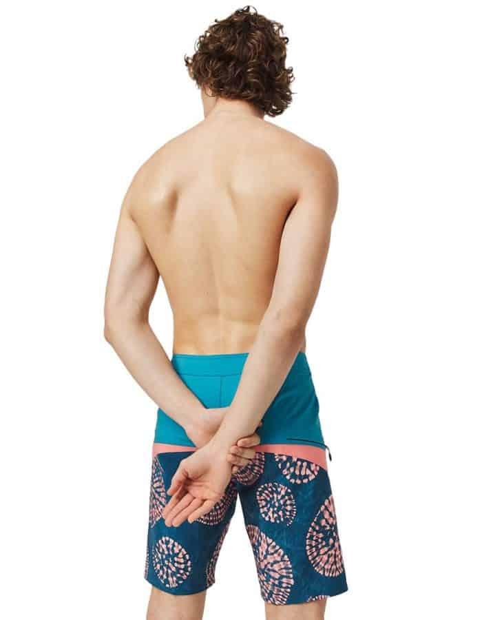 O'Neill Blue hyperfreak férfi boardshort újrahasznosított anyagból modell hátulról - full
