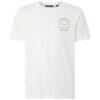 Phil férfi póló fehér színben, elölről, 100% biopamut