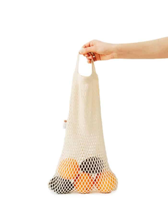 URBANCEKKER csuklópánttal - hálós bevásárló szatyor zerowaste bevásárláshoz