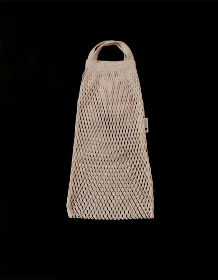 URBANCEKKER csuklópánttal - hálós bevásárló szatyor zerowaste bevásárláshoz - fekete