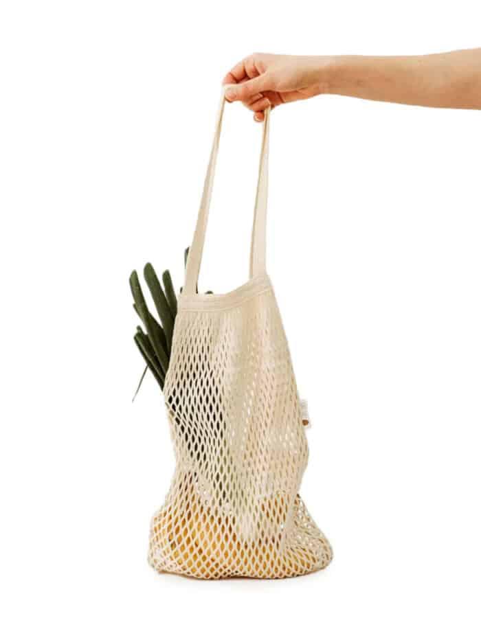 URBANCEKKER vállpánttal - hálós bevásárló szatyor zerowaste bevásárláshoz