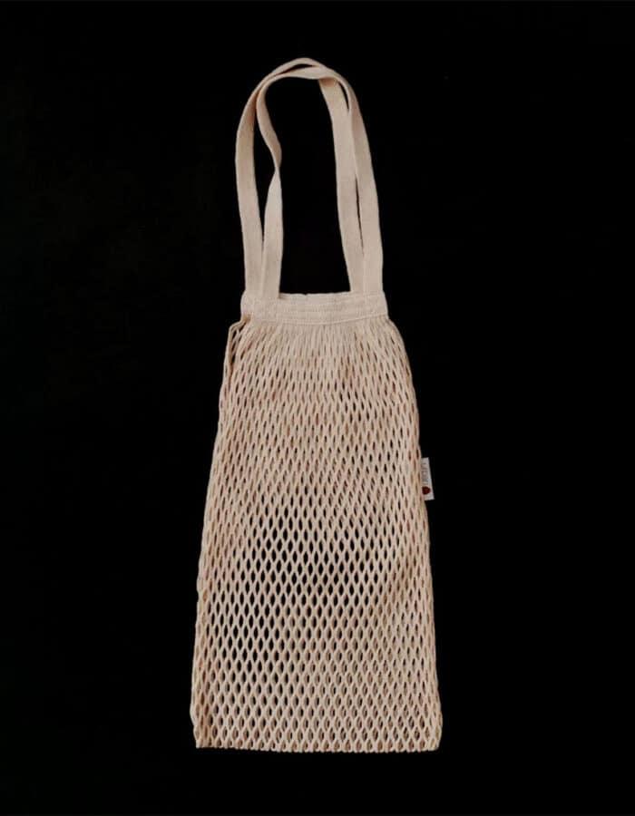 URBANCEKKER vállpánttal - hálós bevásárló szatyor zerowaste bevásárláshoz - fekete