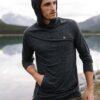 TenTree Boulder vékony kapucnis pulcsi fekete Style közlei