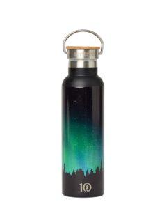 TenTree fém duplafalú vizespalack rozsdamentes acélból fekete előröl