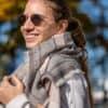 Cottong Geo Blanket biopamut sál rozsaszín style 3