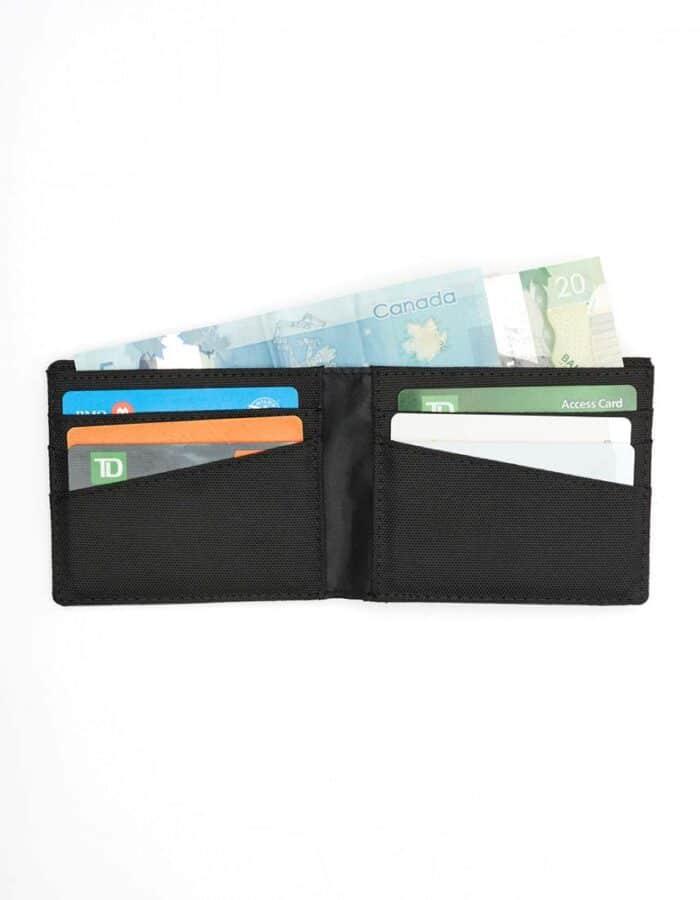 Tentree újrahasznosított pénztárca fekete nyitva pénz