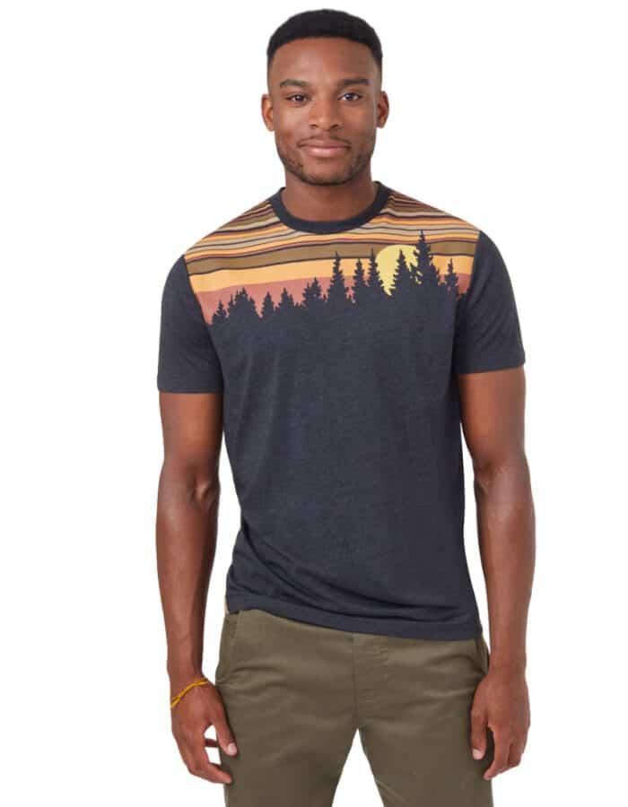 Retro Juniper férfi póló egyedi design, környezetbarát kivitel