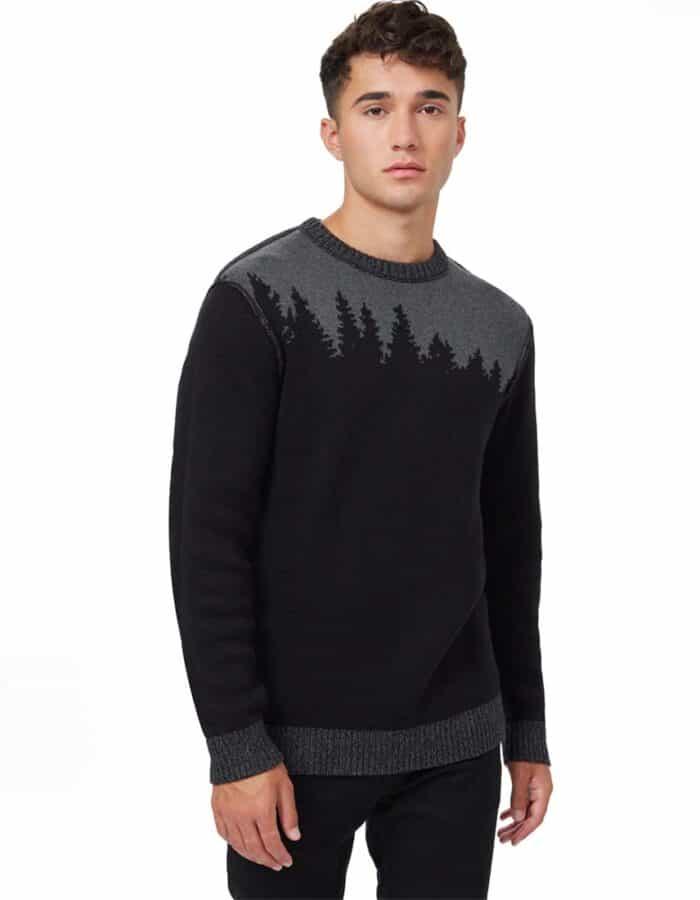 TenTree Highline Juniper biopamut pulóver férfi előröl kifordított