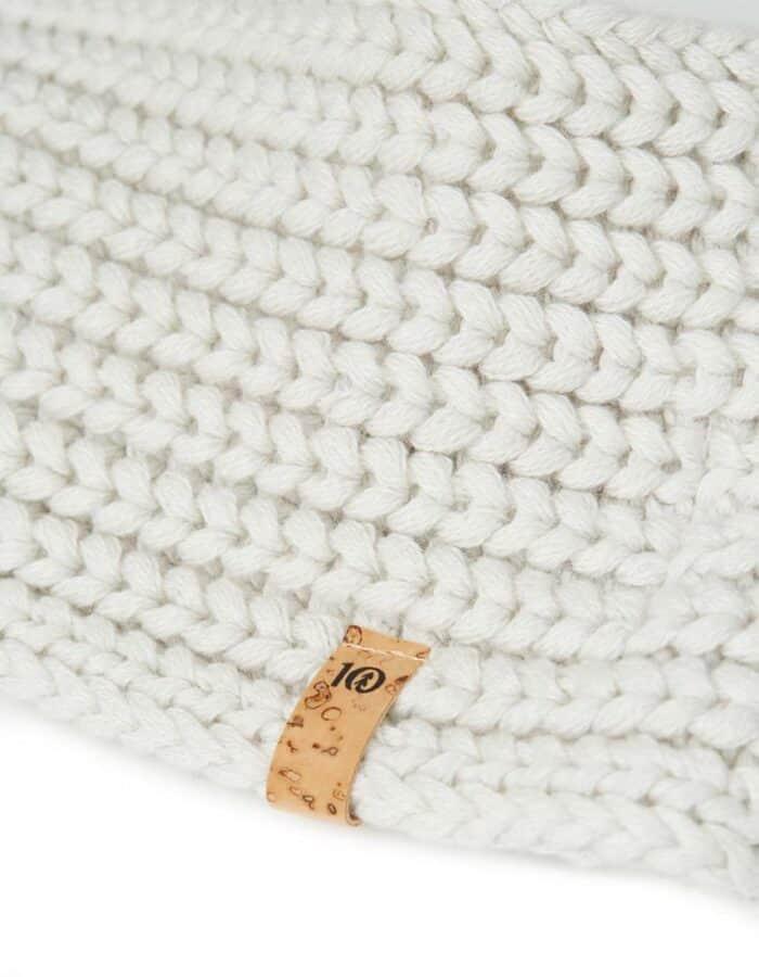 Tentree organikus pamut kötött női fülpánt fehér részlet
