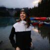 Blocked 1/4 cipzáros biopamut -újrahasznosított női pulóver style 3