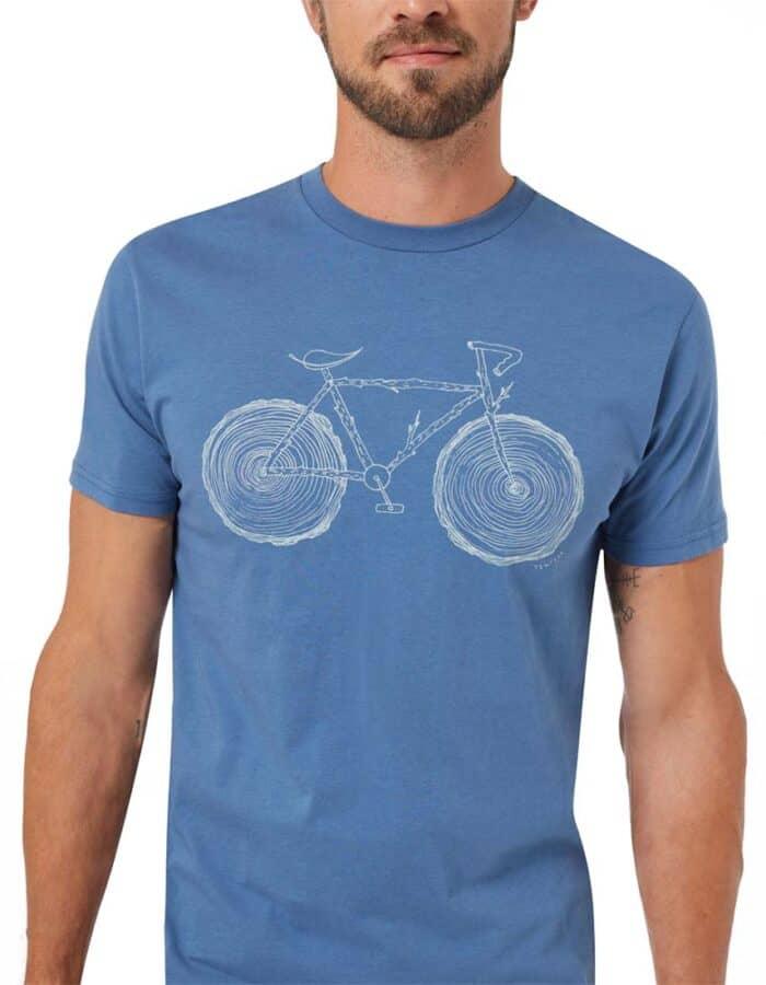Elm férfi biciklis póló biopamutból - Tentree - közeli