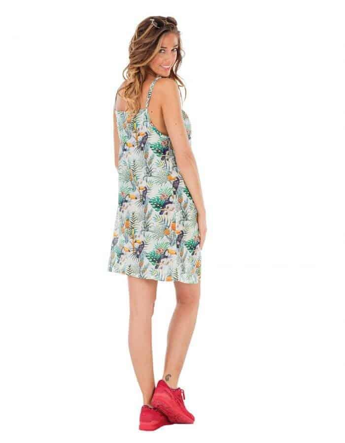 Amour női ruha organikus pamutból hátulról