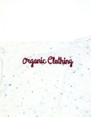 Automn férfi organikus cotton póló - organic clothing hímzés
