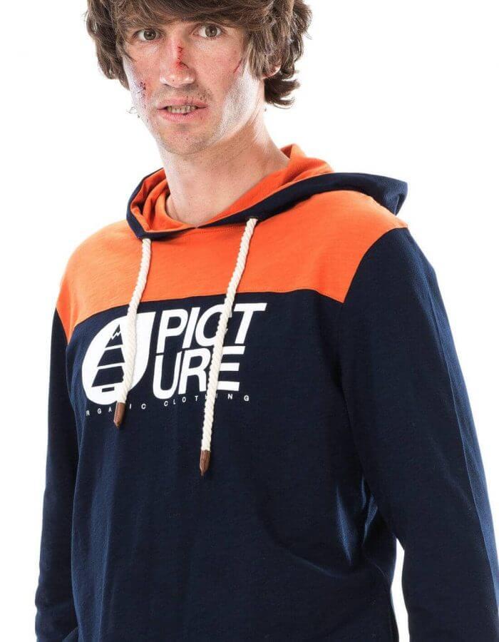 Basement ML férfi kapucnis pulóver közeli