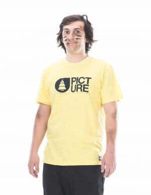 Picture Organic Clothing - Basemebt slub póló sárga