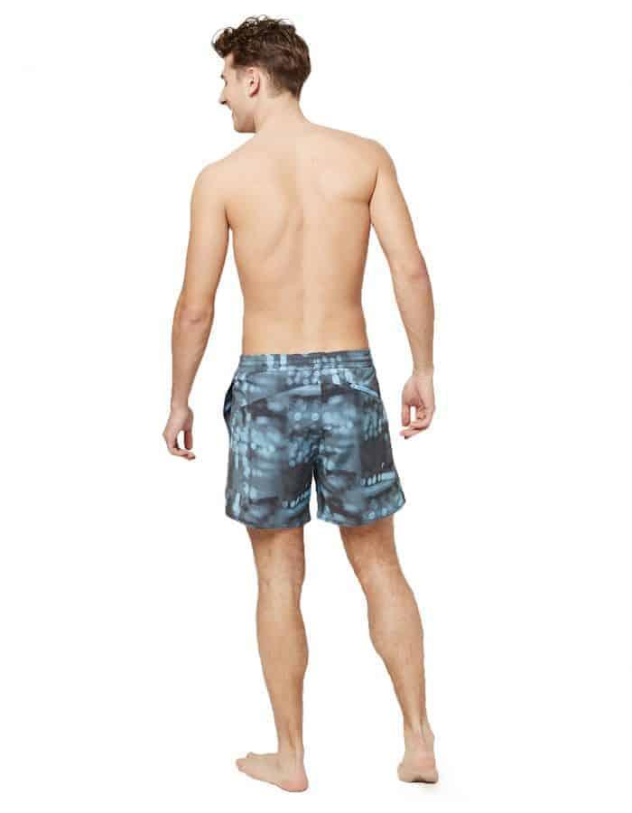 Blurred kék O'neill blue férfi fürdonadrág hátulról