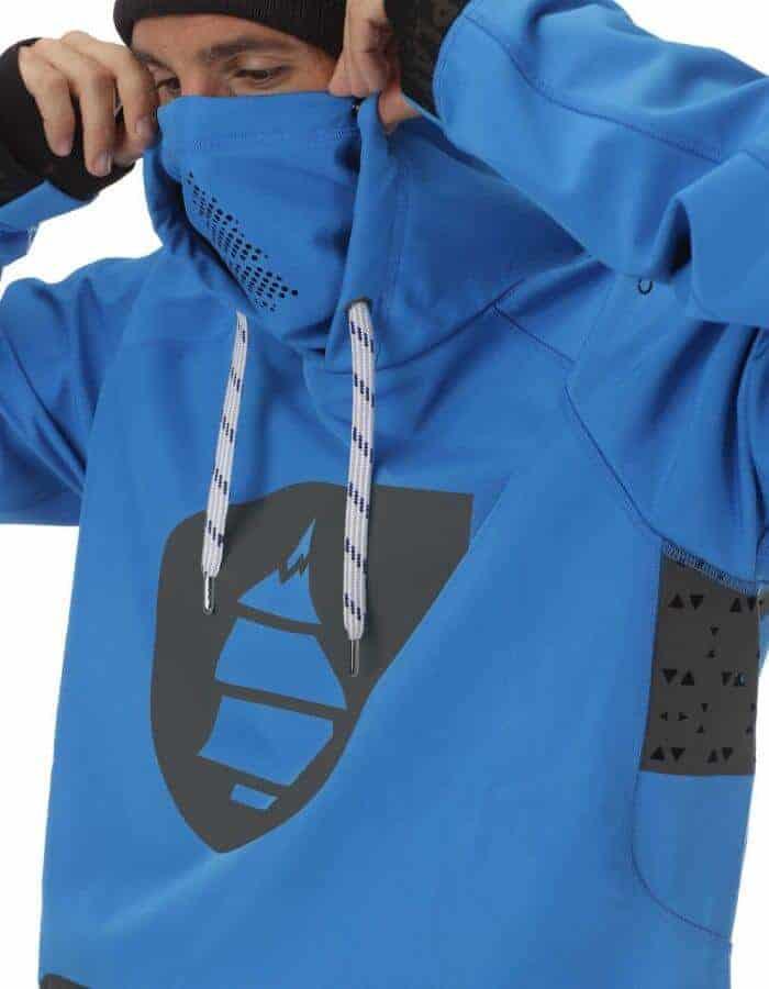 Brandson férfi softshell pulóver kék részlet 3