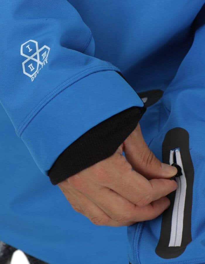 Brandson férfi softshell pulóver kék részlet
