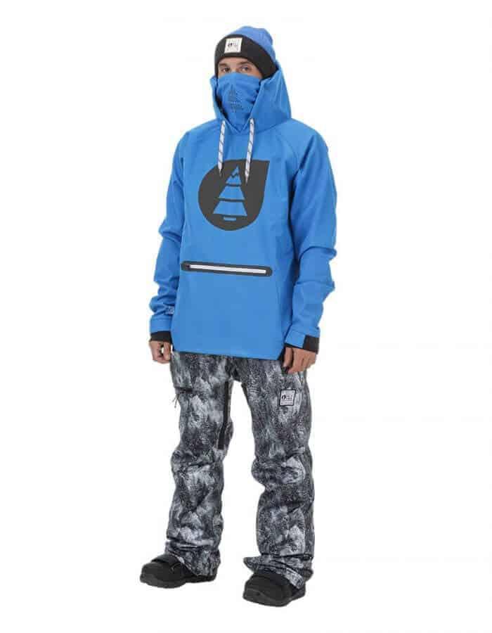 Brandson férfi softshell pulóver kék távoli