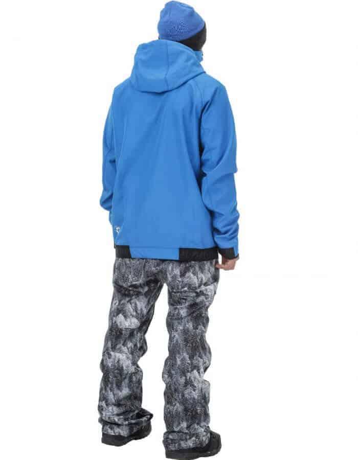 Brandson férfi softshell pulóver kék hátulról