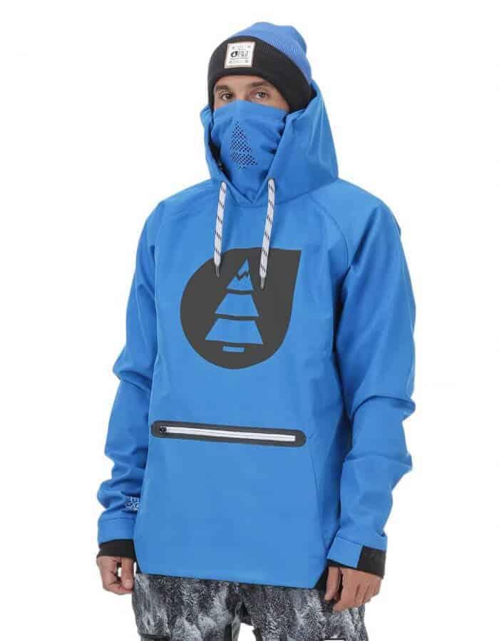 Brandson férfi softshell pulóver kék