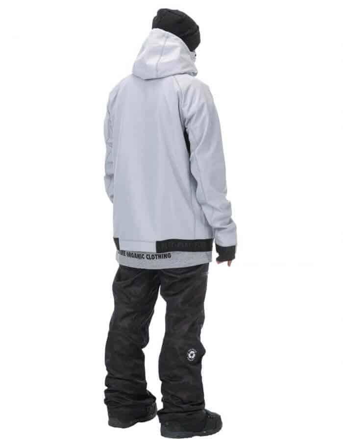 Brandson férfi softshell pulóver szürke hátulról