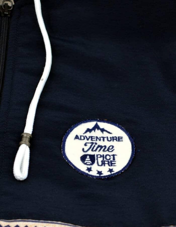 Chambers pulóver kék drapp színnel felvarrt kerek Picture logóval