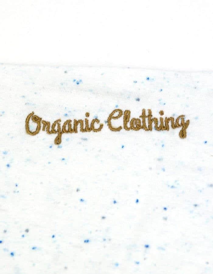Club fehér férfi biopamut póló organic clothing hímzés