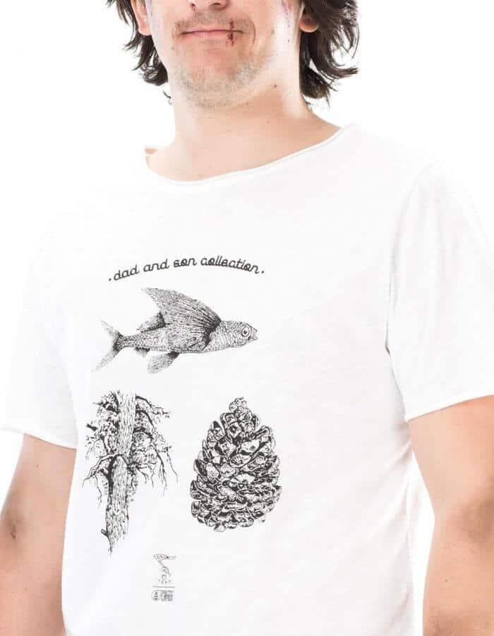 Flyfish egyedi póló - fehér közeli