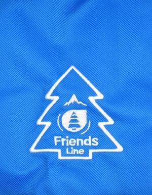 Flying síkabát közeli hímzett fenyőfás Friends logó