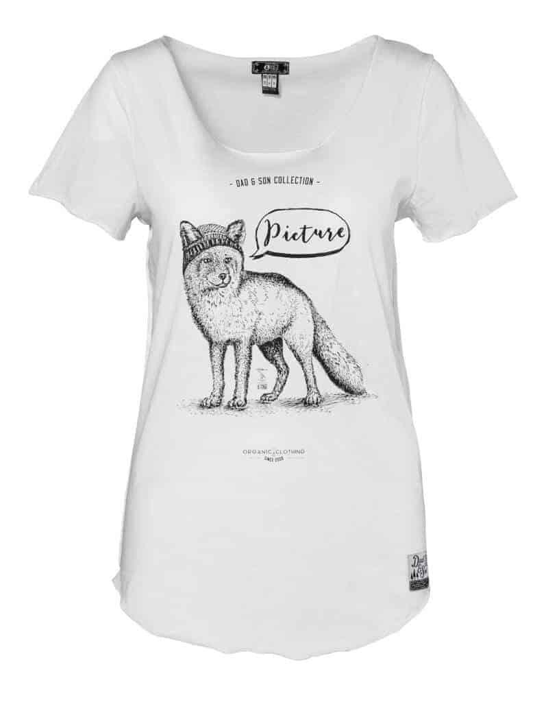 Fox női biopamut póló előről