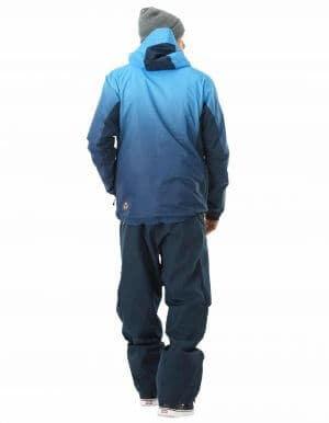 Gradient férfi újrahasznosított síkabát kék full hátulról