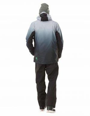 Gradient férfi újrahasznosított síkabát szürke full hátulról