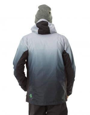 Gradient férfi újrahasznosított síkabát szürke hátulról
