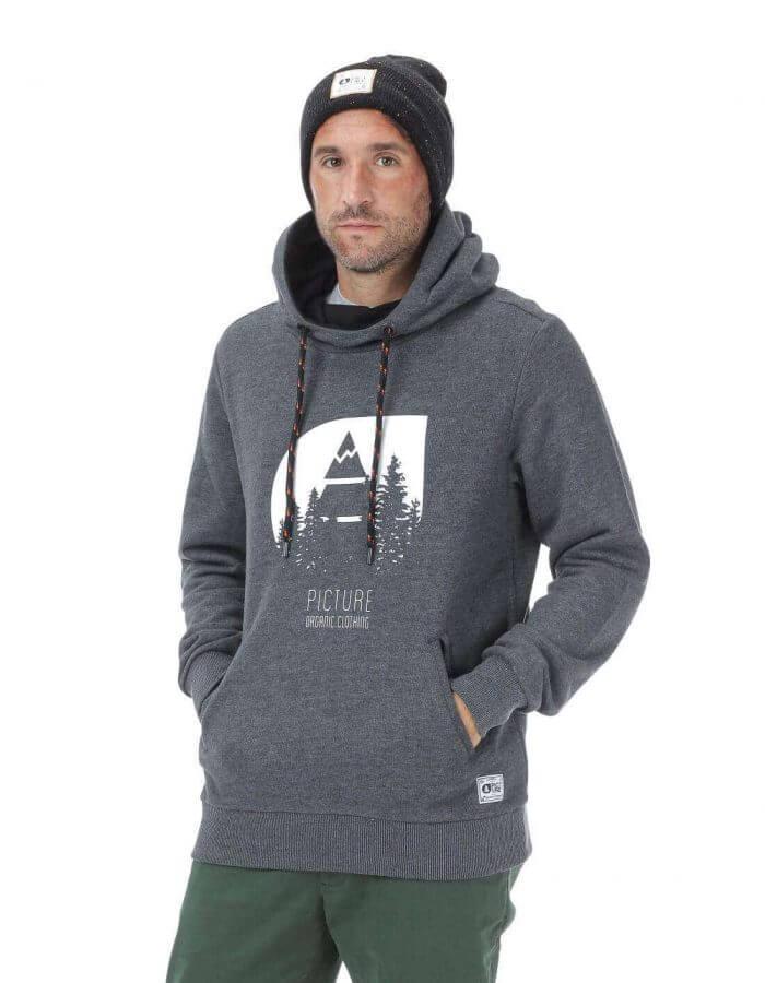 Hetis férfi kapucnis pulóver - fekete