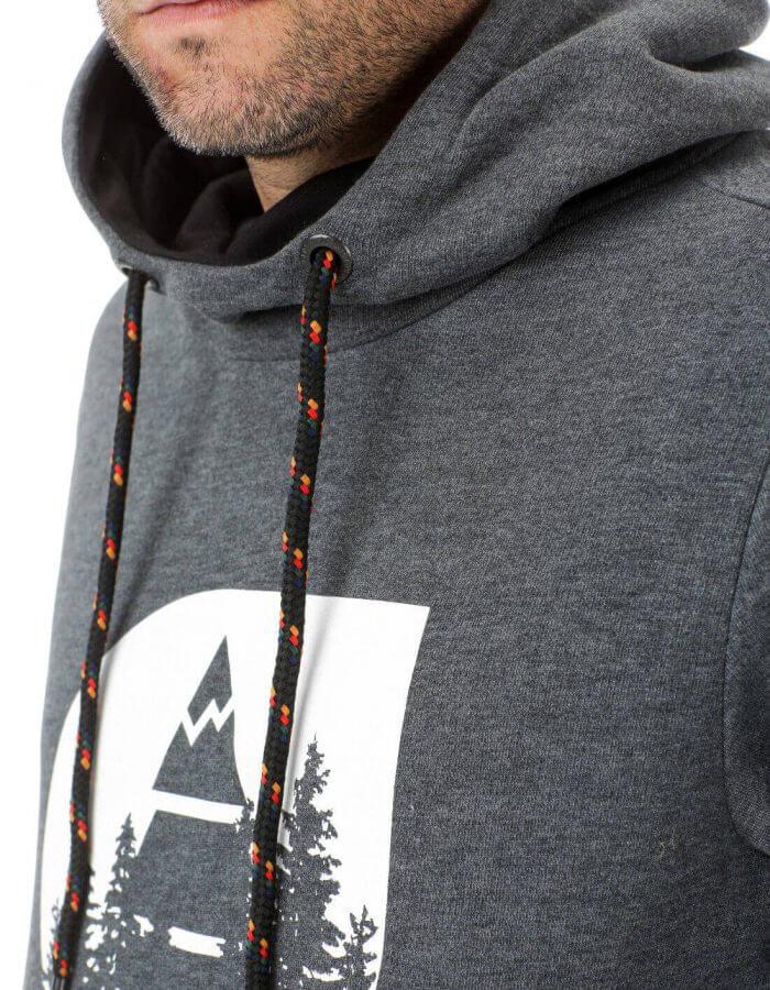 Hetis férfi kapucnis pulóver - fekete design2