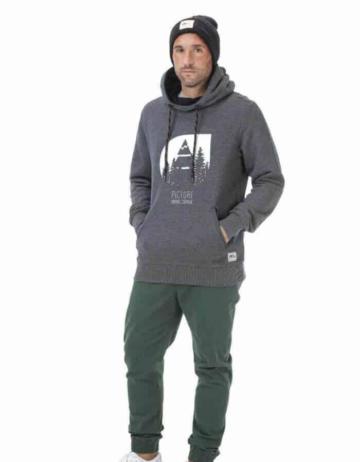 Hetis férfi kapucnis pulóver - fekete távoli
