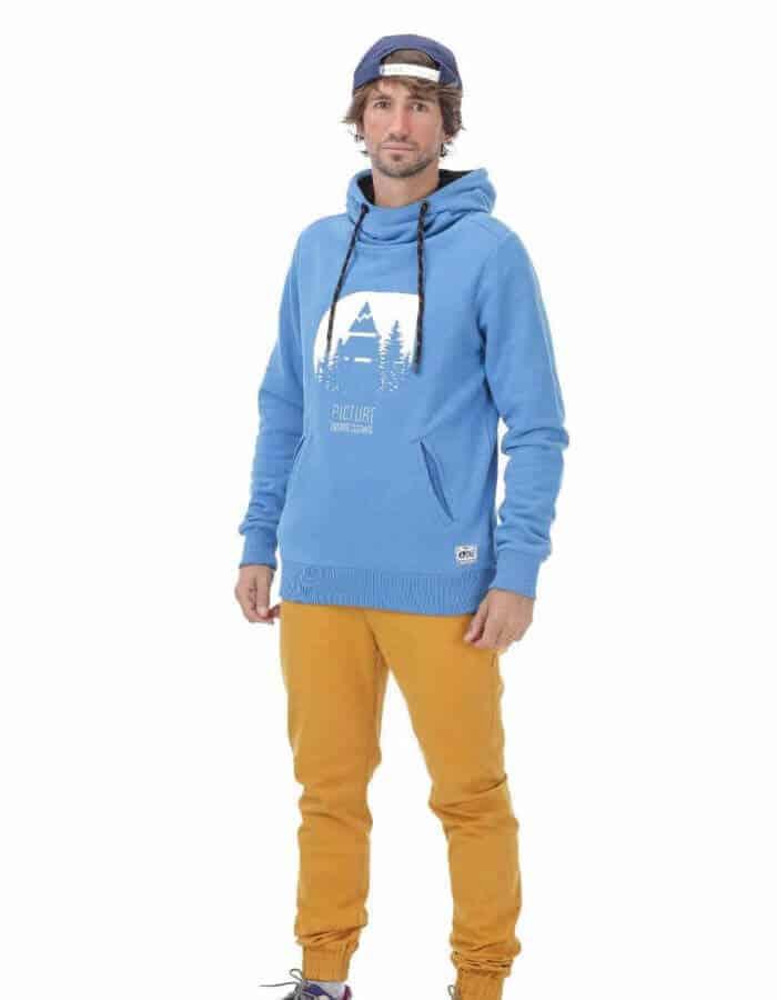 Hetis férfi kapucnis pulóver - kék távoli