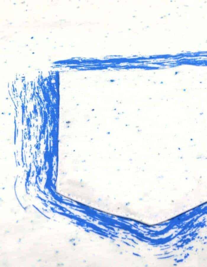 Lagoon póló felvarrt zseb közelről