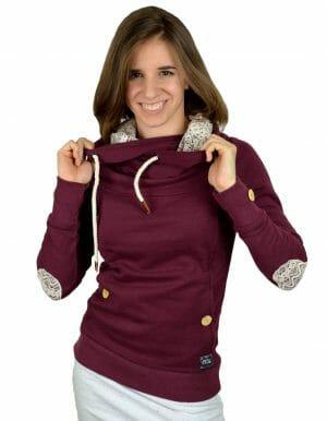 Laice kapucnis pulóver burgundi Dórin - Picture Organic Clothing