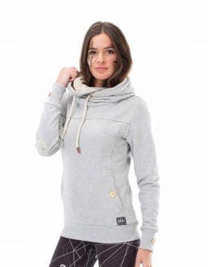 Laice kapucnis pulóver szürke