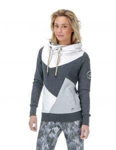 Lily női pulóver kapucnival - közeli